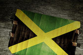 NATIONAL FLAG of JAMAICA — Stock Photo
