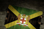 NATIONAL JAMAICA ARMS OF COAT ON WOOD — Stock Photo