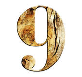 NUMBER IN WOOD — Foto Stock