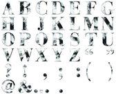 Alfabety niebieski tekstury — Zdjęcie stockowe