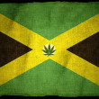 Jamaican Flag with illustration - Stock Photo