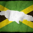 JamaicFlag with illustration — Stock Photo #21042169