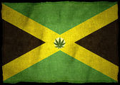 Jamaicas flagga med illustration — Stockfoto