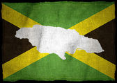 Jamaican Flag with illustration — Stock Photo