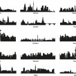 Vector silhouettes of the city&#039;s skyline - Stock Vector