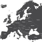 Europe political map — Stock Vector