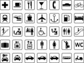 Transport and guide icons — Stock Vector