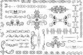 Elementi decorativi ornati — Vettoriale Stock
