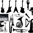 Music instruments — Stock Vector #28281277