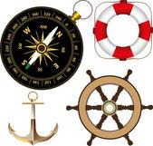Marine accessories — Stock Vector