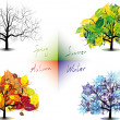 Four seasons — Stock Vector #29636025