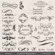 Calligraphic elements set — Stock Vector