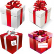 Present boxes set — Stock Vector