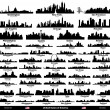USA cities set — Stockvectorbeeld