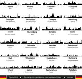 Germany cities — Stock Vector