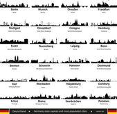 德国的城市 — 图库矢量图片