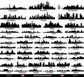 USA cities set — Stockvektor