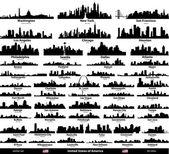 USA cities set — Stock Vector