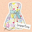 Vector fashion dress - Imagen vectorial