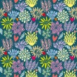 Royalty-Free Stock ベクターイメージ: Vector Seamless Floral Pattern