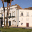 View of a square in Faro near Villa Arc, in Portugal, Faro, Alga - Stock Photo