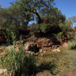 Small waterfall in tavira - algarve, portugal - 360 degrees view — Stock Photo