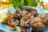 Dish of portuguese clams-traditional recipe — Stock Photo
