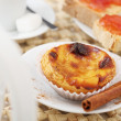Portuguese (Europe) traditional Cake pastel de nata - cream ca — Stock Photo