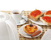 "Portuguese (Europe) traditional Cake ""pastel de nata"" - cream ca — Stock Photo"