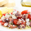 Healthy octopus salad- traditional dish from Portugal-Santa Luzi — Stock Photo #27576295