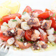 Healthy octopus salad- traditional dish from Portugal-Santa Luzi — Stock Photo