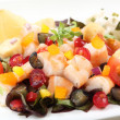 Fresh and healthy shrimp salad with berries — Stock Photo #31938583
