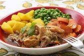 Traditional portuguese chicken stew - mediterranean diet — Stock Photo