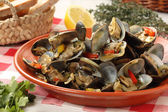 Portuguese clams traditional dish-mediterranean diet — Stock Photo