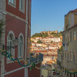 View of a narrow street in the city Lisbon downtown — Stock Photo #49338203
