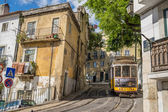 Very touristic place in the old part of Lisbon, Portugal, Europe — Stock Photo