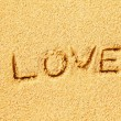 Love on the sand — Stock Photo