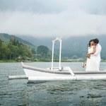 Perfect journey on wedding day, bali — Stock Photo