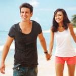 Couple on the beach, bali — Stock Photo