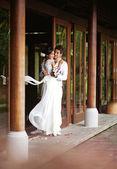 Wedding at villa — Stock Photo