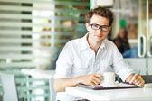 Hombre de café con café — Foto de Stock