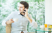 Talking by mobile phone — Stock Photo