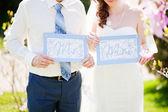 Wedding couple - new family concept — Stock Photo
