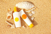 Sunscreen staff — Stock Photo
