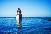 Beautiful beach marriage — Stock Photo