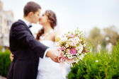 Bouquet (soft focus, focus on the flowers of bouquet) — Stock fotografie