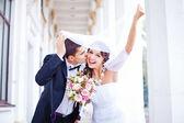 Bruiloft in de herfst — Stockfoto