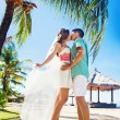 Couple on wedding day in Bali — Stock Photo