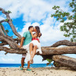 Stock Photo: Couple on wedding day in Bali