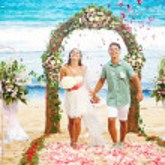 Romantic wedding on the beach, bali — Stock Photo